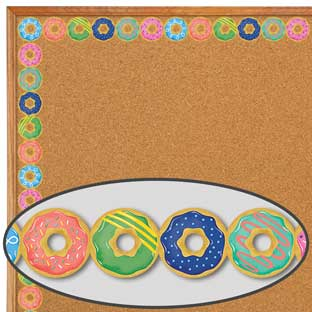 Mid-Century Modern Donuts Border