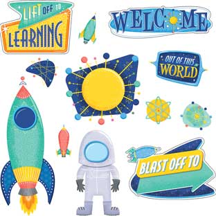 Mid-Century Modern Lift Off To Learning Bulletin Board