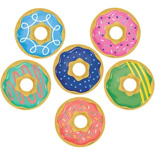 "Mid-Century Modern Donuts 3"" Designer Cutouts"