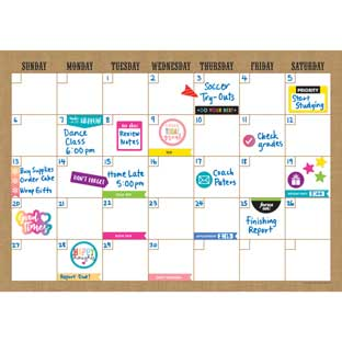 Clingy Thingies® Burlap 17 X 12 Dry Erase Calendar