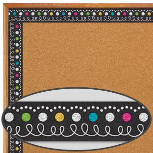 Clingy Thingies® Chalkboard Brights Whiteboard Strips