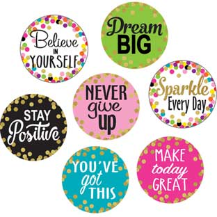 "Confetti Positive Sayings 6"" Accents - 30 pieces"