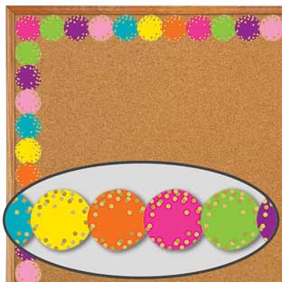 Confetti Circles Diecut Border Trim