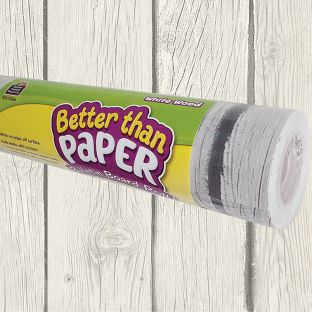 Better Than Paper Bulletin Board Rolls - White Wood - 1 roll