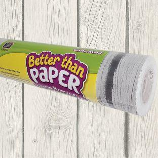 Better Than Paper Bulletin Board Rolls - White Wood - 1 roll