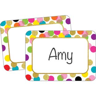 Confetti Name Tag Labels - 36 labels