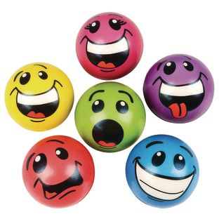 Stress Silly Face Balls - 12 balls