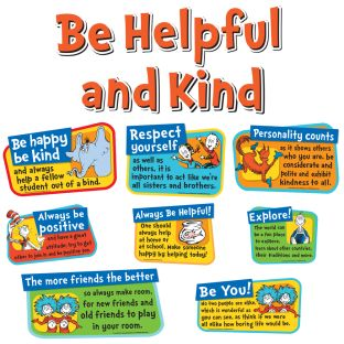 Dr. Seuss Be Helpful And Kind Bulletin Board Set
