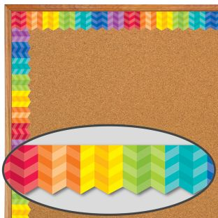 Painted Palette Rainbow Herringbone Border Trim - 1 border trim