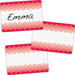 Poppy Red Painted Palette Name Tags
