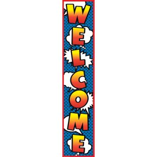 Superhero Welcome Banner - 1 banner