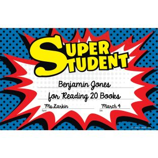 Superhero Super Student Awards - 25 certificates