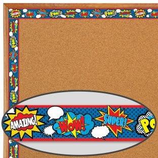 Superhero Straight Border Trim - 1 border trim