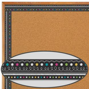 Chalkboard Brights Straight Border Trim - 1 border trim