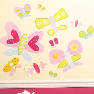Garden Reading Environment - Wallies® Butterflies Wall Decor - 28 stickers