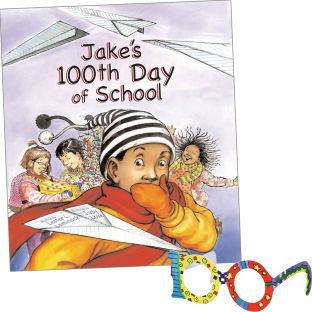Jake's 100th Day Of School And 100th Day Glasses - 1 book, 24 glasses