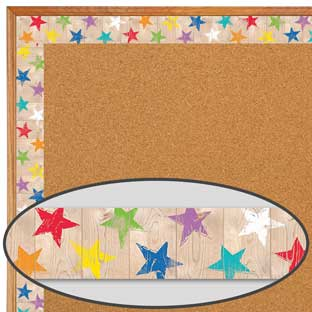 Upcycle Rustic Stars Border Trim - 1 border trim