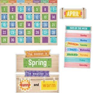 Upcycle Calendar Bulletin Board Set