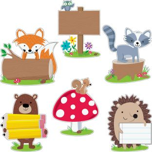 "Woodland Friends 10"" Designer Cutouts"