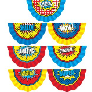 Superhero Bunting Accents - 30 accents