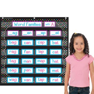 Chalkboard Brights Pocket Chart With 7 Pockets - 1 pocket chart
