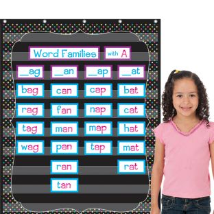 Chalkboard Brights Pocket Chart With 10 Pockets - 1 pocket chart