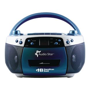 AudioStar Boom Box Radio, CD, USB, Cassette Player With Tape And CD To MP3 Converter