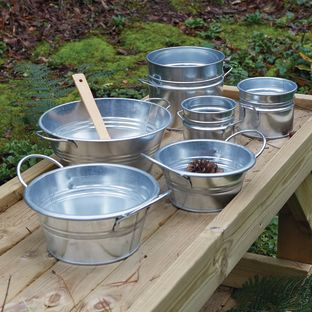 Metal Cans and Tubs, 6pcs