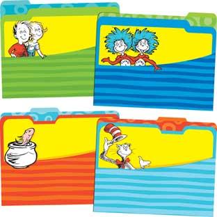 Dr. Seuss™ Classic File Folders - 12 folders
