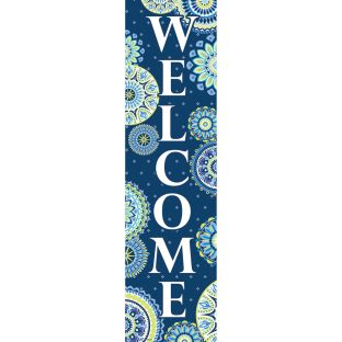 Blue Harmony Welcome Vertical Banner