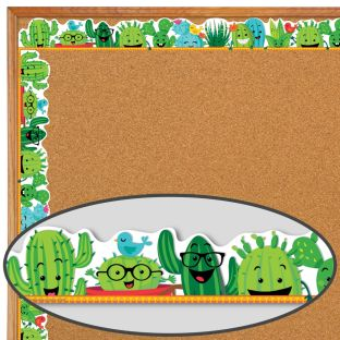 A Sharp Bunch Cactus Friends Deco Trim - 37 feet of border trim