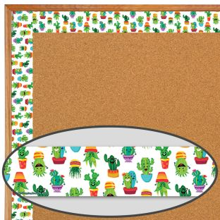 A Sharp Bunch Mini Cactus Friends Deco Trim - 37 feet of border trim