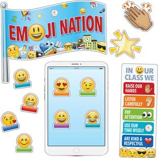 Emoji Fun Bulletin Board Set