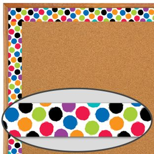 Bold and Bright Colorful Spots Border Trim