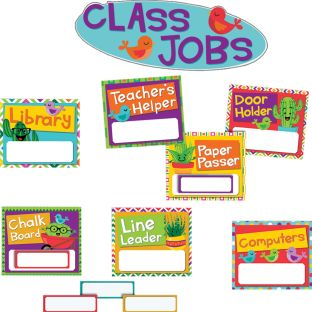 A Sharp Bunch Class Jobs Bulletin Board Kit - 76 pieces