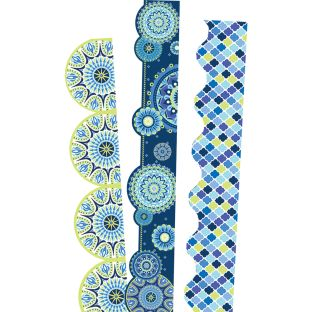 Blue Harmony Extra Wide Deco Trim Bundle - 3 sets of border trim