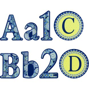 Blue Harmony Decorative Letters Bundle - 313 pieces