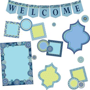 Blue Harmony Welcome Bulletin Board Kit - 61 pieces