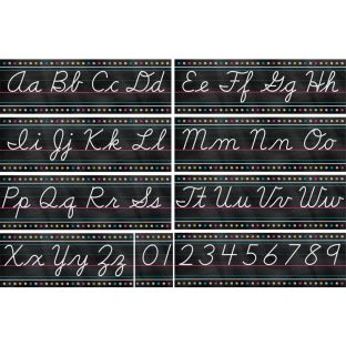 Chalkboard Brights Cursive Writing Bulletin Board Display Set
