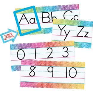 Colorful Scribble Alphabet Line