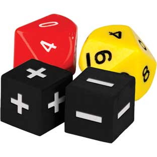 Addition and Subtraction Dice - 4 dice