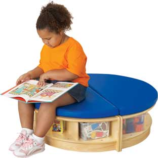 Jonti-Craft® Read-A-Round Island - 2-piece unit