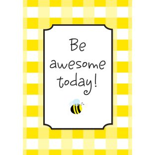 Buffalo Plaid Be Awesome Today Poster