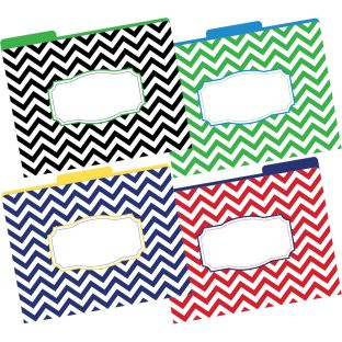 Chevron File Folders - 12 folders