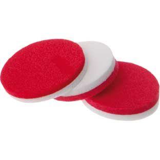 Red And White 2-Color Foam Counters - 200 counters