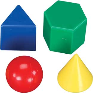"1"" Geometric Solids - 40 pieces"