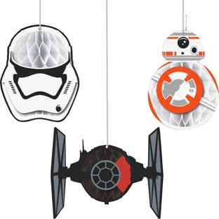 Star Wars The Force Awakens™ Honeycomb Decorations - 3 pieces