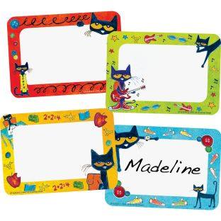 Pete The Cat® Groovy Name Tag Labels
