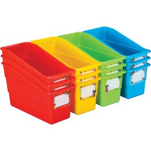 Pete The Cat® Groovy Durable Book And Binder Holders - 12 bins, 36 labels