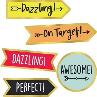 Aim High Motivational Stickers